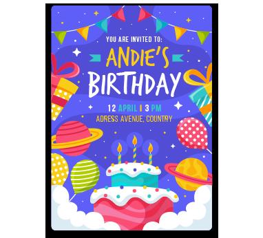 andie birthday card