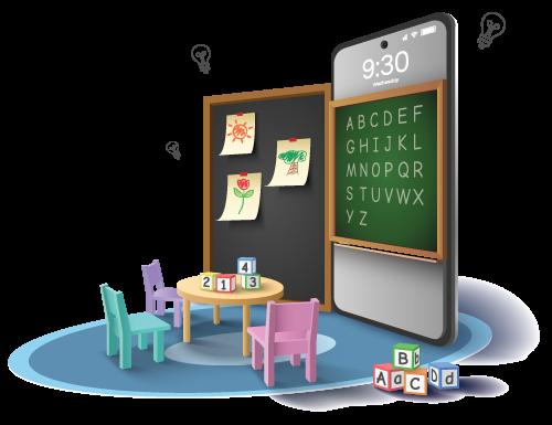 online classroom kindergarten
